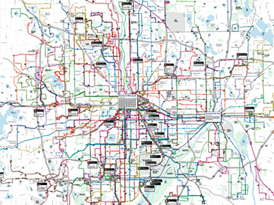 Twin Cities Metro Area Transit System Map