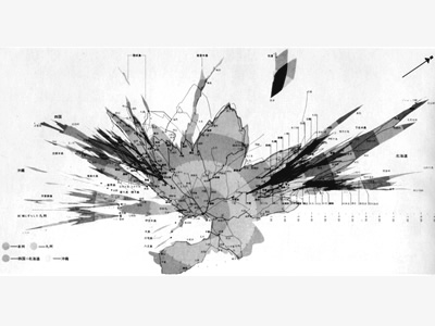Visualcomplexitycom Japan TravelTime Map - Japan map sketch