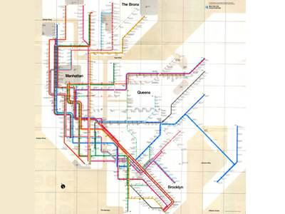 New York Subway Map (1972)