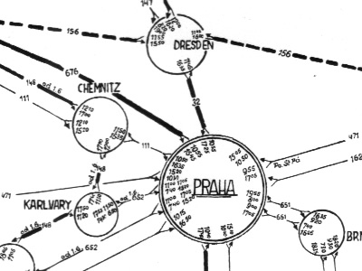 visualcomplexity com | Czechoslovakia Air Route Map