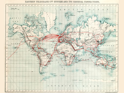 Eastern Telegraph Company System Map