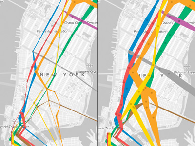 Nyc Subway Map 2006.Visualcomplexity Com Nyc Subway Ridership 1905 2006