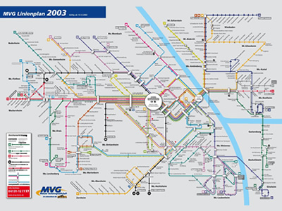 Mainz Bus Map (Germany)