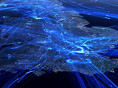 Flight Visualizations over 24hr Periods