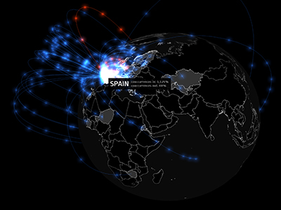 Mapping Media Geographic Networks: The News Co-occurrence Globe